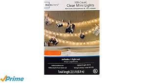 100 count mini lights amazon com mainstays 100 ct clear mini lights pack of 2 garden