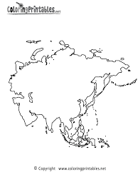 asia map coloring page a free travel coloring printable