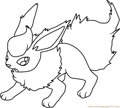 flareon coloring pages flareon pokemon coloring page free pokmon