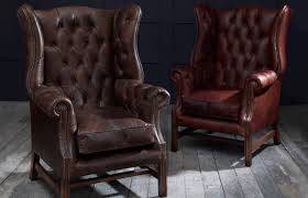 Queen Anne Wingback Chair Leather Fancy Armchair Leather Leather Wingback Chairs South Africa