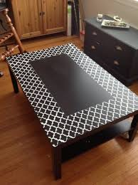 coffee table coffee table stencilledack ikea hackers incredible