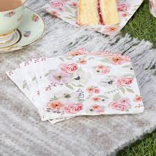 Shabby Chic Tablecloth by 16 X Vintage Style Tea Party Napkins Shabby Chic Flower Buffet