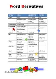 word formation esl worksheets of the day pinterest word