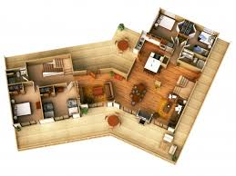 stylish 3d simple house plans designs basic floor plan top view 3