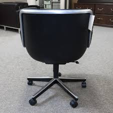 Knoll Office Desk Used Knoll Pollock Leather Executive Office Chair Black Che1539