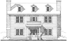 Plan TD Center Hall Colonial House Plan