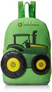 amazon com john deere boys u0027 tractor toddler backpack lime green