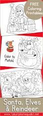 santa elves reindeer coloring elves xmas craft