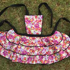 Womens Aprons Aprons Womens Berry Floral Full Apron
