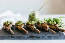 Rack Of Lamb On Grill Rosemary Grilled Lamb Chops With Mint Apple Sauce Downshiftology