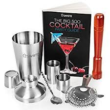 barware sets savisto premium 7 piece cocktail set with manhattan cocktail