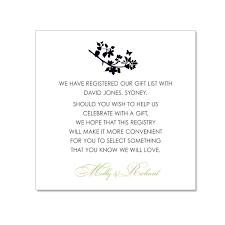 wedding registry card wording wedding invitation gift list wording paperinvite