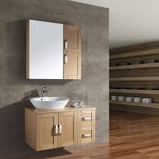 bathroom storage cabinets brown laminated wooden shelf cream