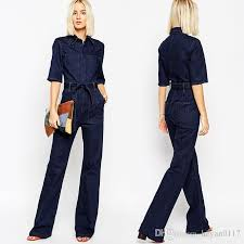 sleeve denim jumpsuit 2018 jumpsuit denim overalls rompers