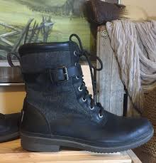 ugg kesey lace up ankle ugg kesey black leather wool waterproof boots 9 5 1005264 lace up