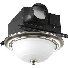 Bathroom Light Vent by Progress Lighting Pv008 09strwb Cfl Bath Fan With 70 Cfm 2 13