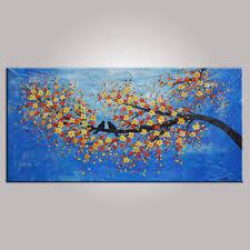 abstract art contemporary wall art modern art love birds