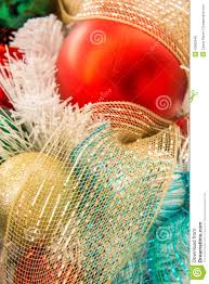 decorations multi colored ornaments stock photo image