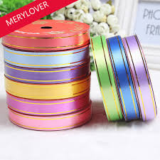 plastic ribbon hot 1 5 cm pvc plastic ribbons with gold edging flower bouquet gift