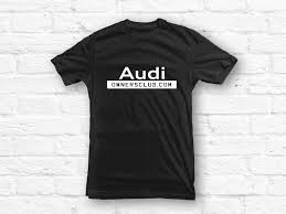 audi logo black and white audi owners club logo unisex t shirt u2022 mufflebox