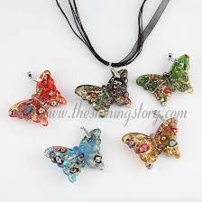 glass butterfly necklace images Glitter butterfly lampwork murano glass necklace pendant jewellery jpg