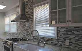 Glass Kitchen Tile Backsplash Interior Glass Mosaic Tile Backsplash Backsplash With Glass