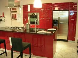 High Gloss Kitchen Cabinets by New High Gloss Red Ikea Kitchen Cabinet Doors Abstrakt Ikea