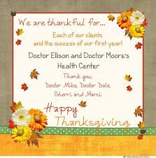 we are thankful for each of our clients and the success of our