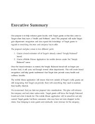 target wellness proposal
