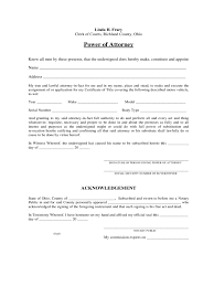 General Power Of Attorney Form Ohio by Ohio Power Of Attorney Form Free Templates In Pdf Word Excel
