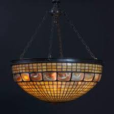Tiffany Chandelier Lamps Authentic Tiffany Studios Hanging Lamp In Plain