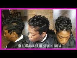 soft waves for short black hair finger waves and curls short style youtube