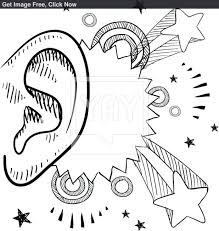 X Ear Anatomy Coloring Page Diagram Earmuff Elephant Ear Coloring Ear Coloring Page
