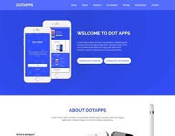 dotapps app landing page html template