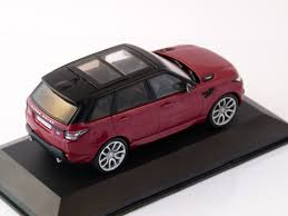 Range Rover Sport In Red Black 1 43 Scale Model By Whitebox