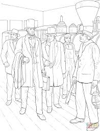 lincoln coloring pages abraham lincoln with hat coloring page free printable coloring pages