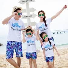 2016 new summer family matching clothing casual vacation