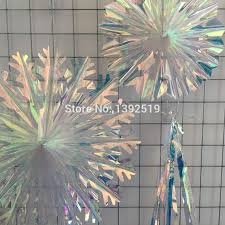 fans for weddings new design 16inch snowflake fan hanging iridescent material fans