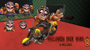 halloween biker wario super smash bros for wii u u003e skins u003e wario