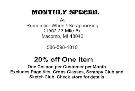 coupons remember when scrapbooking