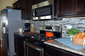 kitchen glass tile backsplash ideas wooden polish area floor