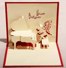 blessing cards angel piano 3d pop up gift greeting 3d blessing cards handmade