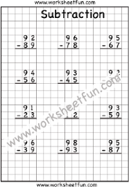 2 digit borrow subtraction u2013 regrouping u2013 4 worksheets free