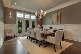 Modern Dining Room Table And Chairs by Formal Dining Room Design With Crystal Chandelier And Wallpaper