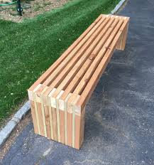 Outdoor Wooden Benches 2x4 Bench From Scraps Wood Slat Backyard Tutorials Pinterest