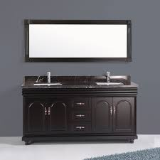 60 in freestanding bathroom vanity set with mirror and double