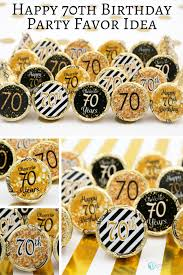 70th birthday party ideas black and gold 70th birthday party favor stickers set of 324 70