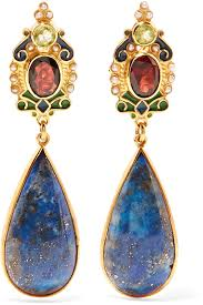 percossi papi earrings lyst percossi papi gold plated and enamel multi earrings