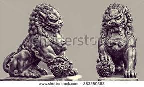 foo lion statue statue guardian lion foo fu stock photo 512406322