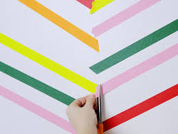 Washi Tape Wall Designs by Create Herringbone Wall Decor With Washi Tape Hgtv